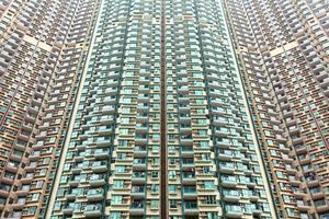 edifici residenziali di Hong Kong foto