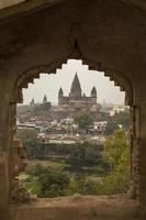 vista del tempio di chaturbhurj, orcha foto
