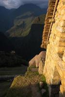 ultima luce del sole su machu picchu, Perù