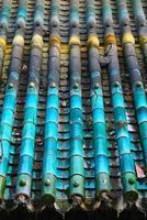 tetto di tegole cinesi tradizionali foto