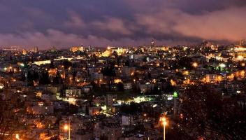 Gerusalemme, Israele - vista notturna foto