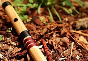 flauto basso di bansuri foto