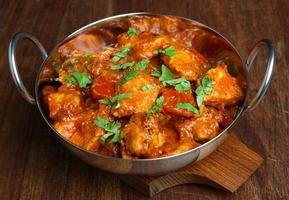 curry di pollo tikka jalfrezi foto