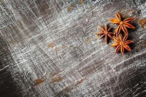 sfondo di cibo con anice stellato foto