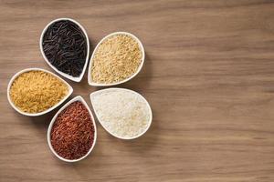 varietà di riso foto