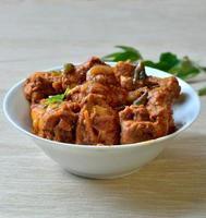 curry indiano di pollo foto