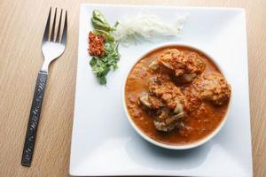 maiale freddo - un piatto non vegetale di goa foto
