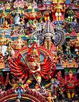 statue del tempio meenakshiamman foto