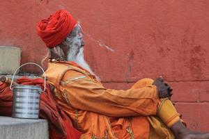 Heiliger Sadhu in India foto