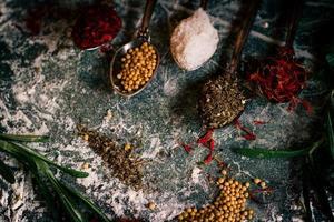 ingredienti delle spezie alimentari foto