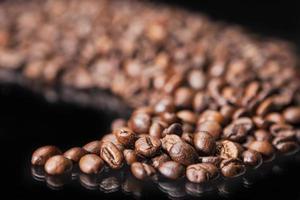 chicchi di caffè tostati foto