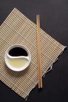 concetto di cibo asiatico, orientamento verticale foto