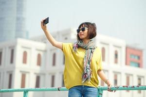 prendendo selfie