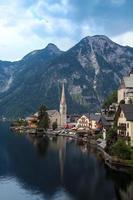 villaggio di Hallstatt al crepuscolo