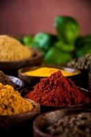 spezie colorate, tema orientale