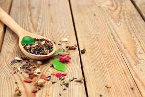 tè in un cucchiaio foto