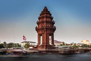 monumento all'indipendenza, Phnom Penh, attrazioni di viaggio in Cambogia. foto