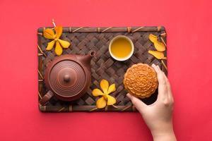 mooncake e tè