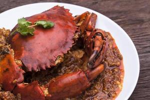 cucina asiatica del granchio di peperoncino. foto