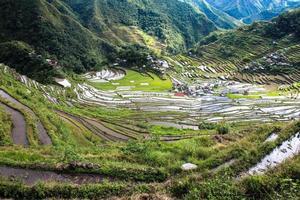 terrazze di riso banaue, batad, filippine foto