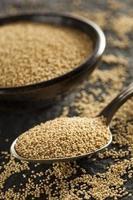 grano di amaranto biologico crudo foto