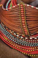 collana di perline africane. foto
