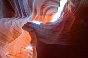 canyon dell'antilope dell'Arizona sulla terra navajo vicino alla pagina SUA foto