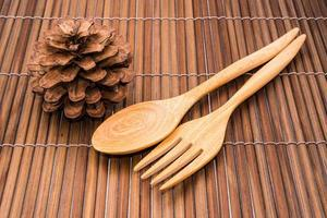 cucchiaio di legno foto