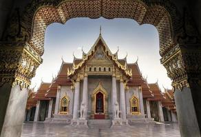 il tempio di marmo, wat benchamabopit dusitvanaram foto