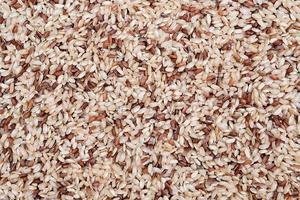 sfondo di riso integrale crudo foto