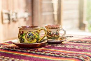 tazze di hutsul ucraino foto