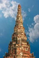 Wat Chai Watthnaram il tempio storico di Ayutthaya, in Thailandia foto