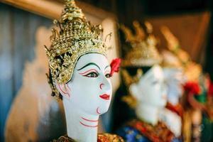 fantoccio tradizionale khon thailandese foto