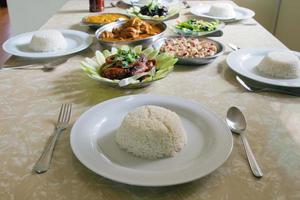 pasto asiatico sudorientale cucinato in casa foto