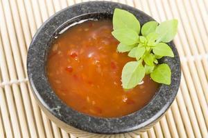 salsa piccante al peperoncino foto