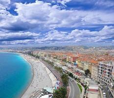 costa del mare di Nizza. foto