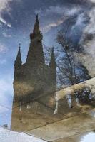 Università di Glasgow riflessa foto