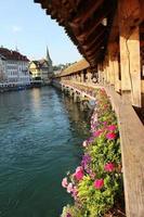 ponte della cappella, erba medica, svizzera foto