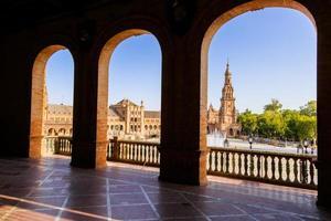 famosa plaza de espana, siviglia, spagna foto