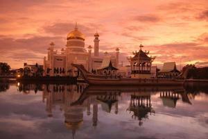 moschea del Brunei Darussalam foto