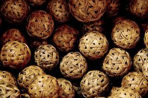 palla di rattan foto