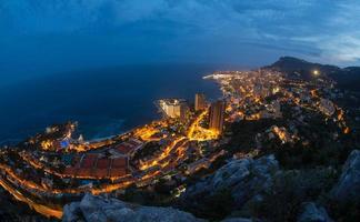 twightlight di paesaggio urbano di Monaco foto