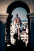 vista dell'edificio del parlamento ungherese foto