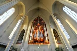 Cattedrale di Hallgrimskirkja a Reykjavik, Islanda foto