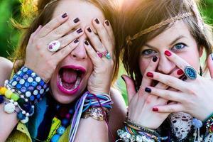 gente del festival, espressione facciale
