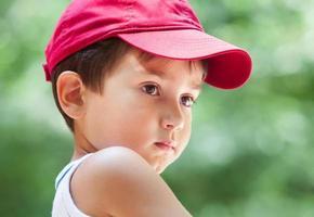 ritratto di un ragazzo di 3-4 anni foto