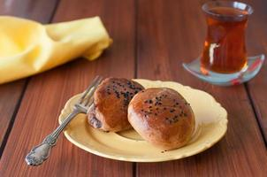 pogaca di pasticceria turca foto
