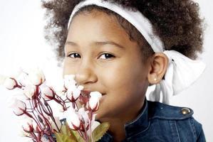 niña africana foto