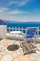 caldera di santorini, grecia foto