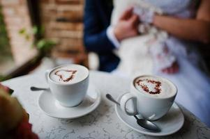 tazza di caffè con il cuore foto